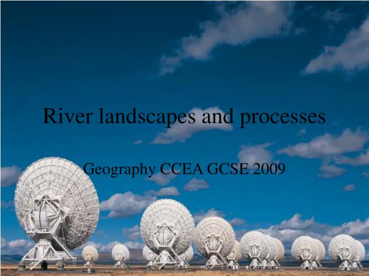 river landscapes and processes n.