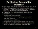 borderline personality disorder35