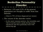 borderline personality disorder36