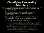 classifying personality disorders5