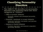 classifying personality disorders6