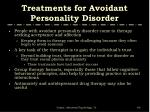treatments for avoidant personality disorder