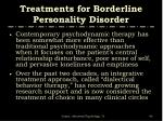 treatments for borderline personality disorder40