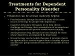 treatments for dependent personality disorder67