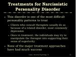 treatments for narcissistic personality disorder