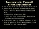 treatments for paranoid personality disorder