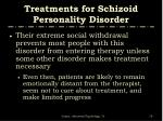 treatments for schizoid personality disorder