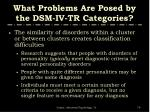 what problems are posed by the dsm iv tr categories79