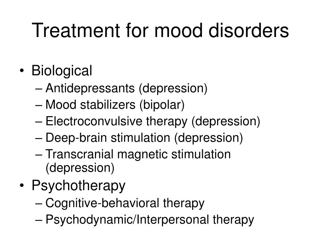 Treatment for mood disorders