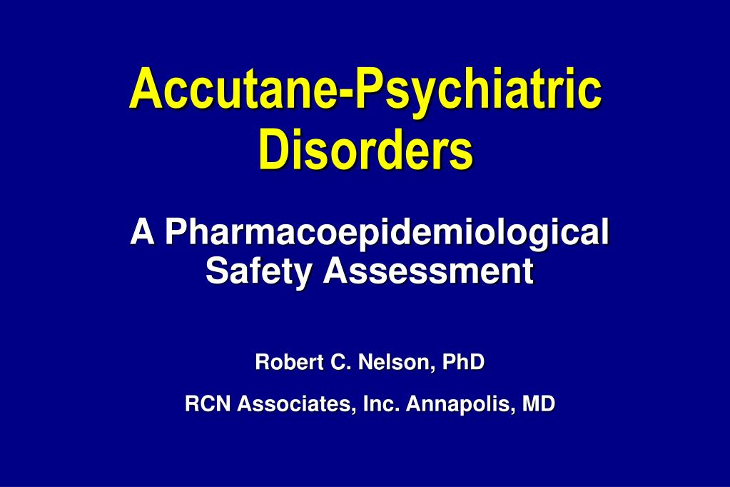 accutane psychiatric disorders