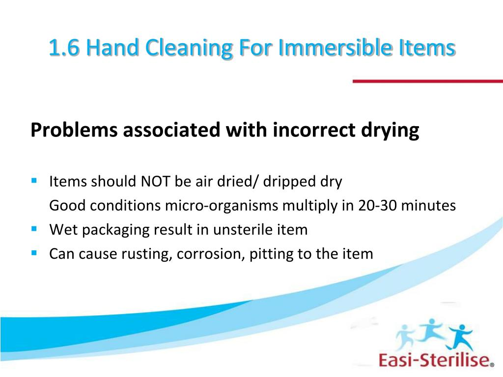 1.6 Hand Cleaning For Immersible Items