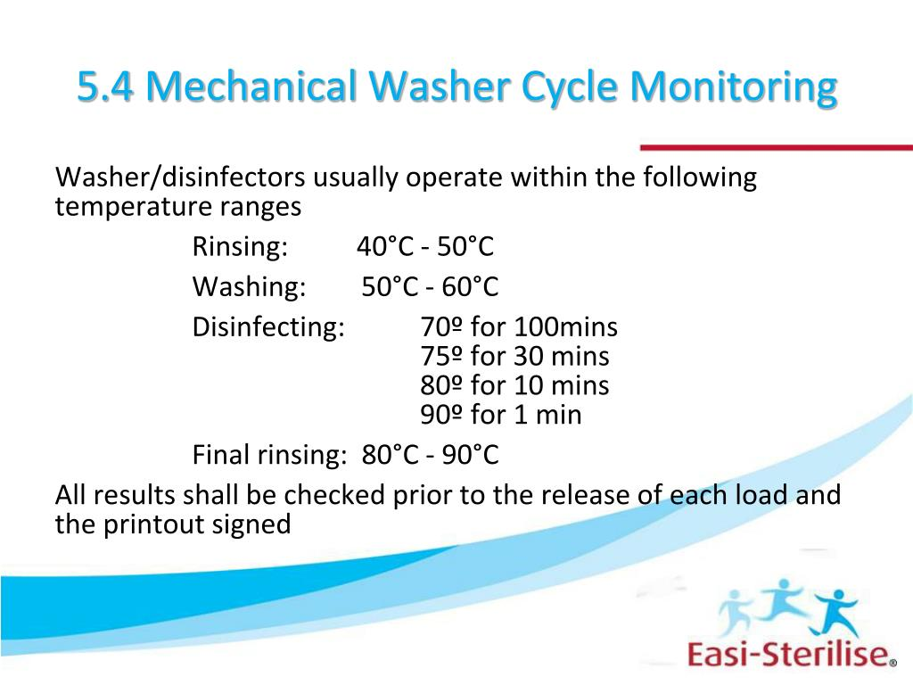 5.4 Mechanical Washer Cycle Monitoring