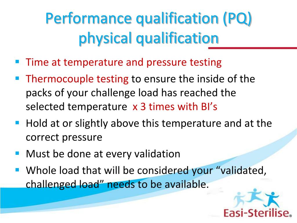 Performance qualification (PQ) physical qualification