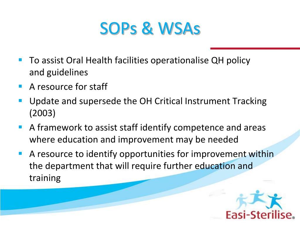 SOPs & WSAs
