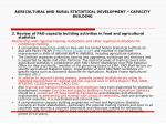 agricultural and rural statistical development capacity building13
