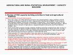 agricultural and rural statistical development capacity building14