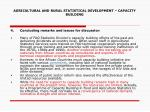 agricultural and rural statistical development capacity building17