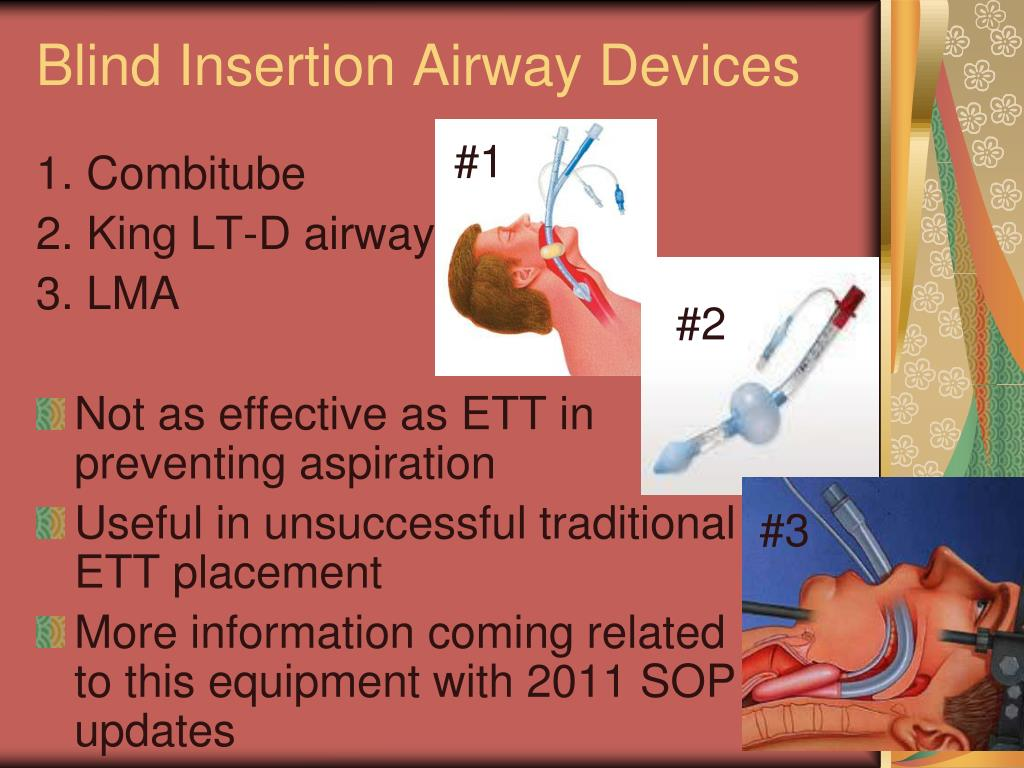 Blind Insertion Airway Devices