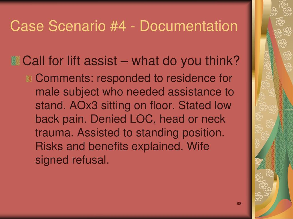 Case Scenario #4 - Documentation