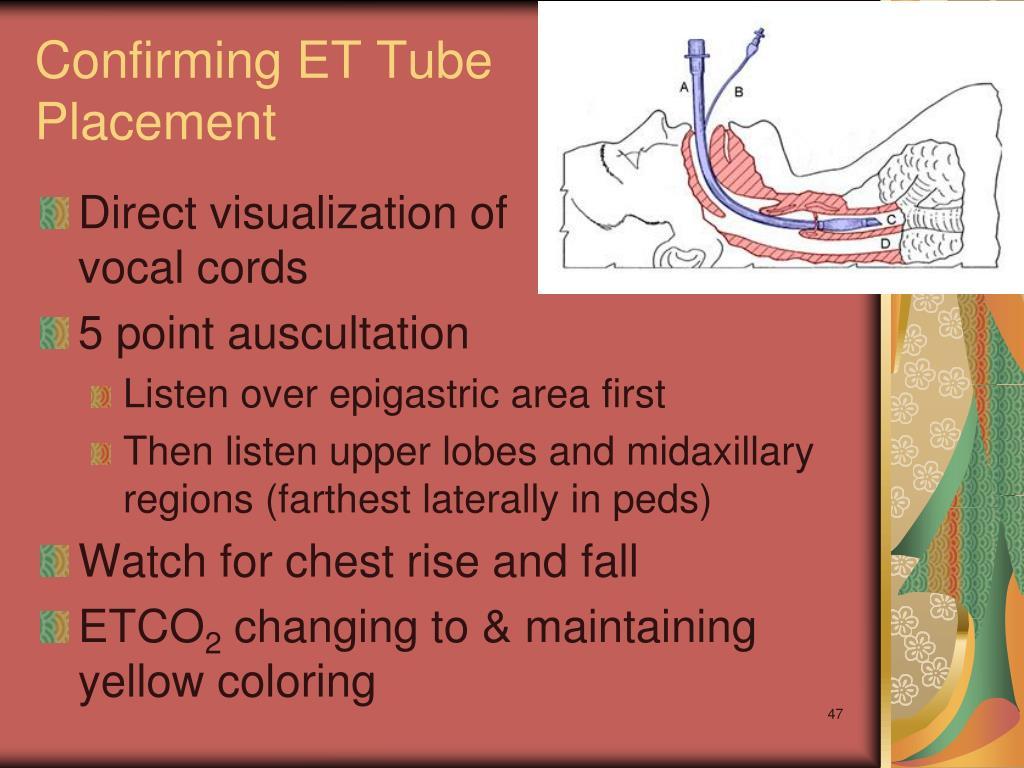 Confirming ET Tube Placement