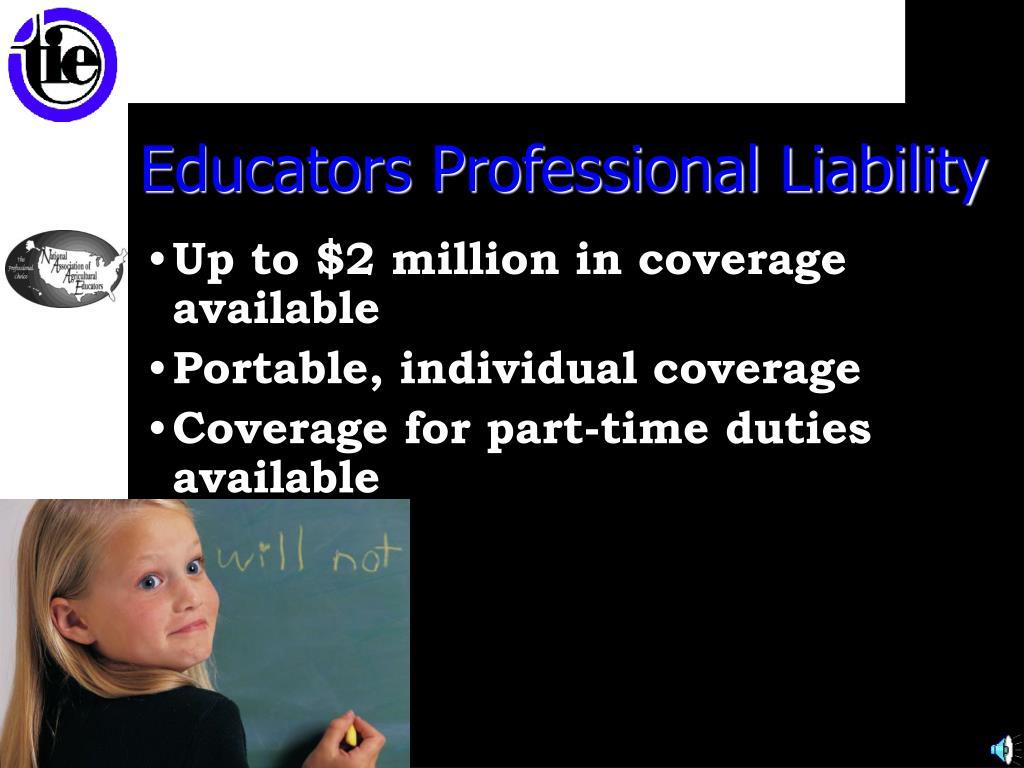 Educators Professional Liability