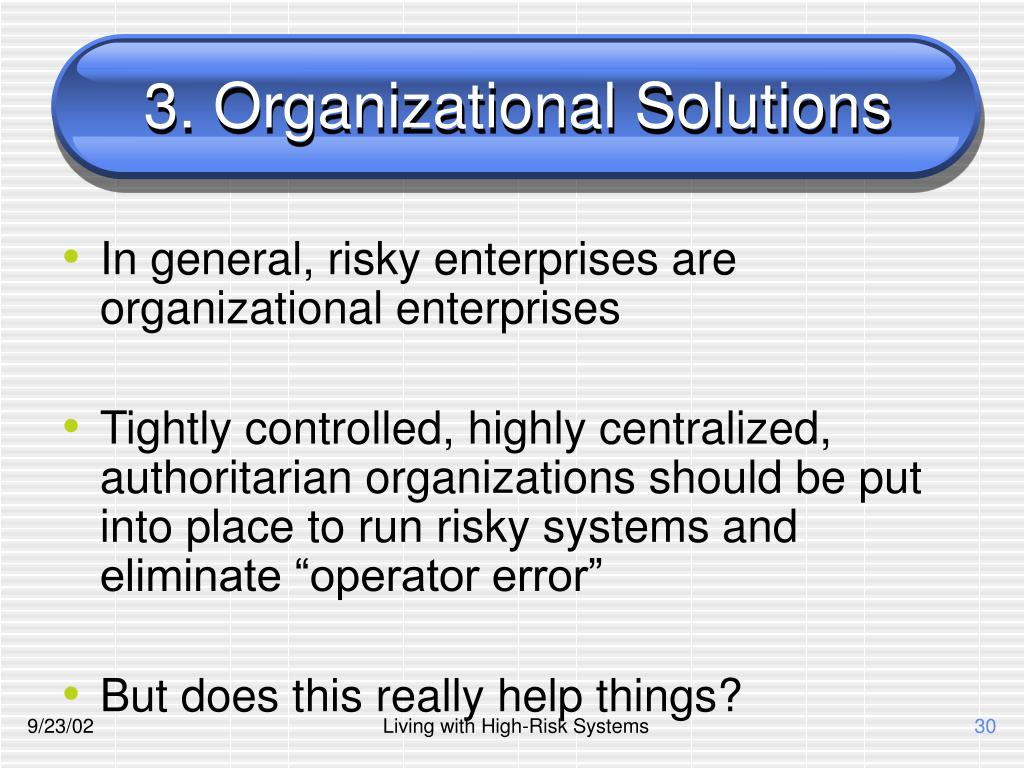3. Organizational Solutions