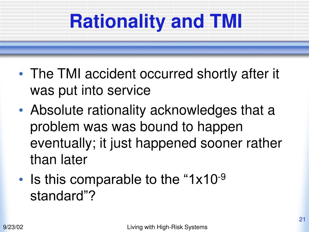 Rationality and TMI