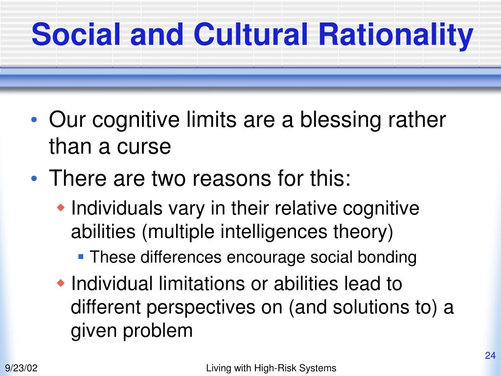 Social and Cultural Rationality