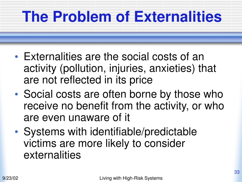 The Problem of Externalities