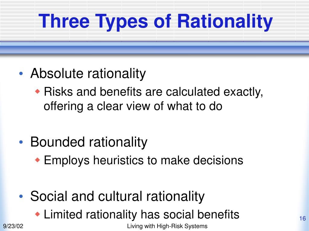 Three Types of Rationality
