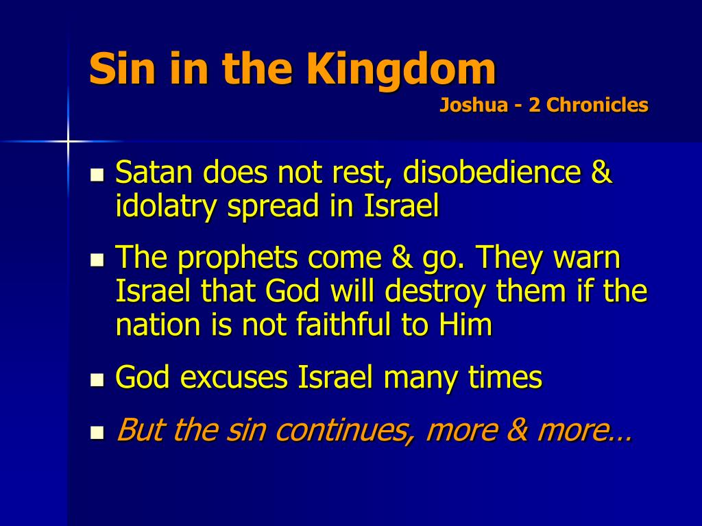 Sin in the Kingdom