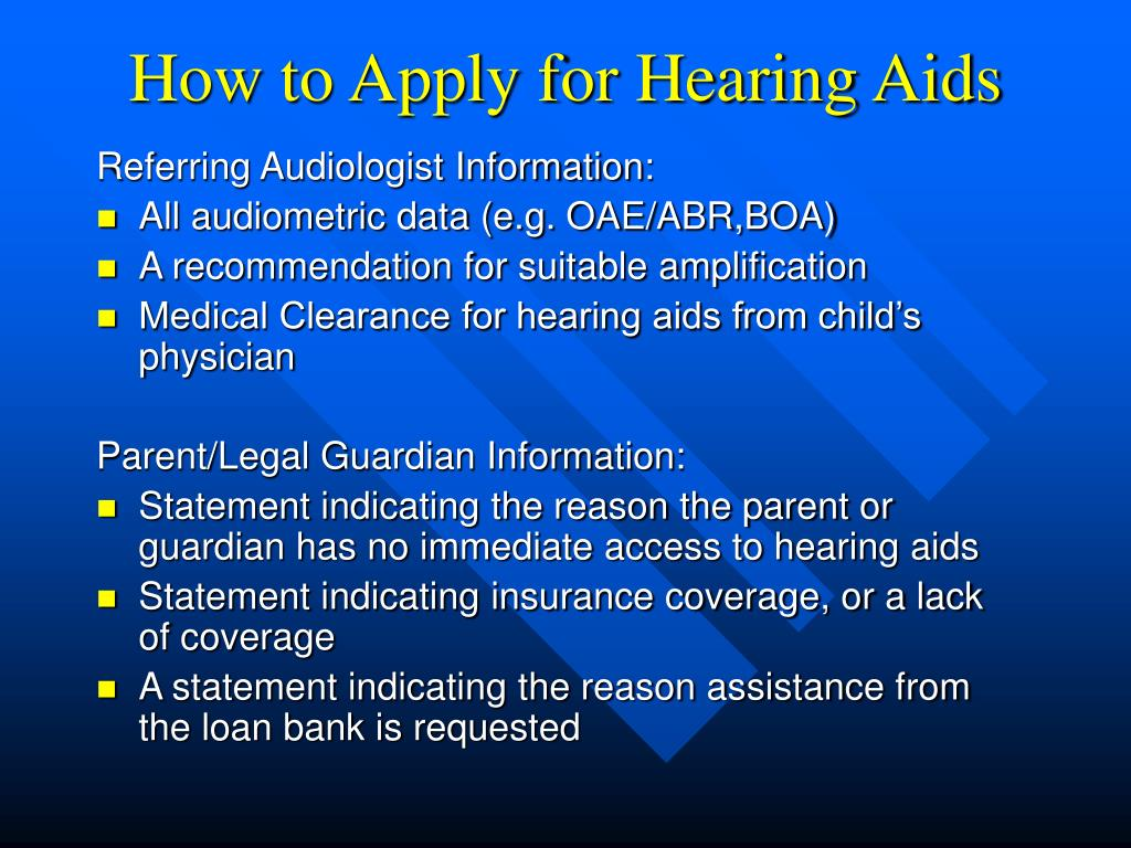 How to Apply for Hearing Aids