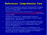 references comprehensive care