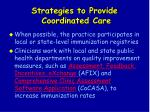 strategies to provide coordinated care