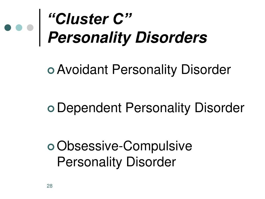 PPT - Personality Disorders and Substance Use Disorders