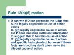 rule 12 b 6 motion44