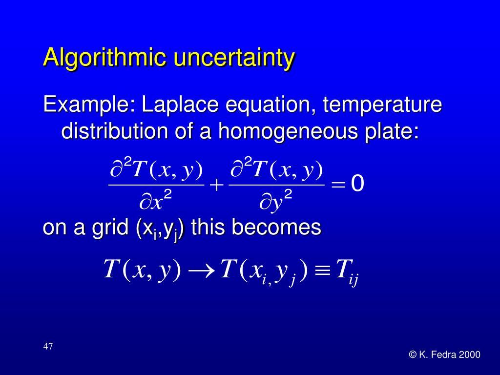 Algorithmic uncertainty