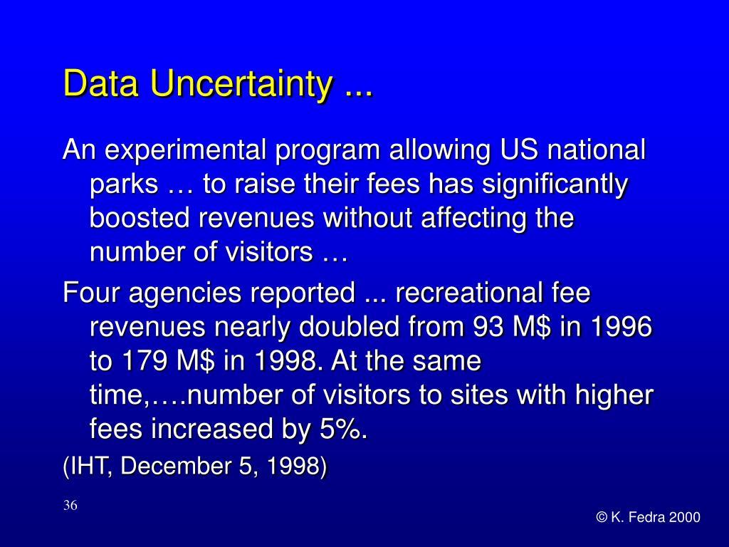 Data Uncertainty ...