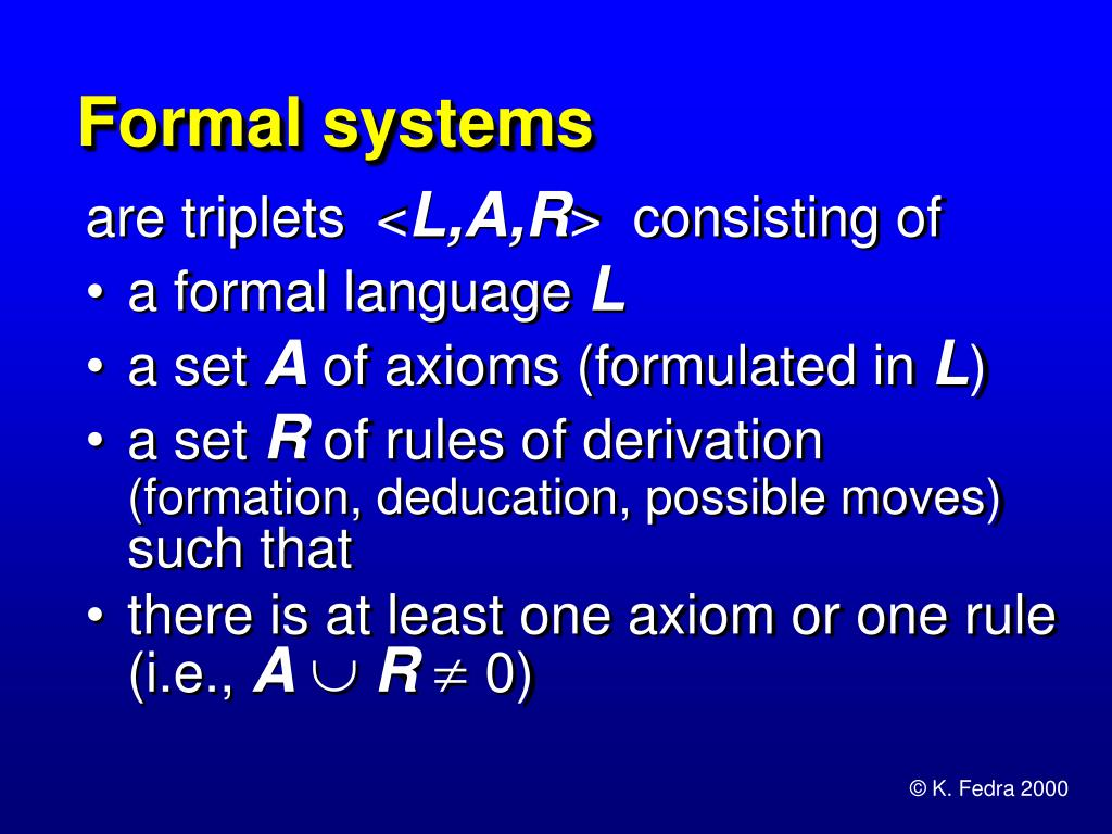 Formal systems