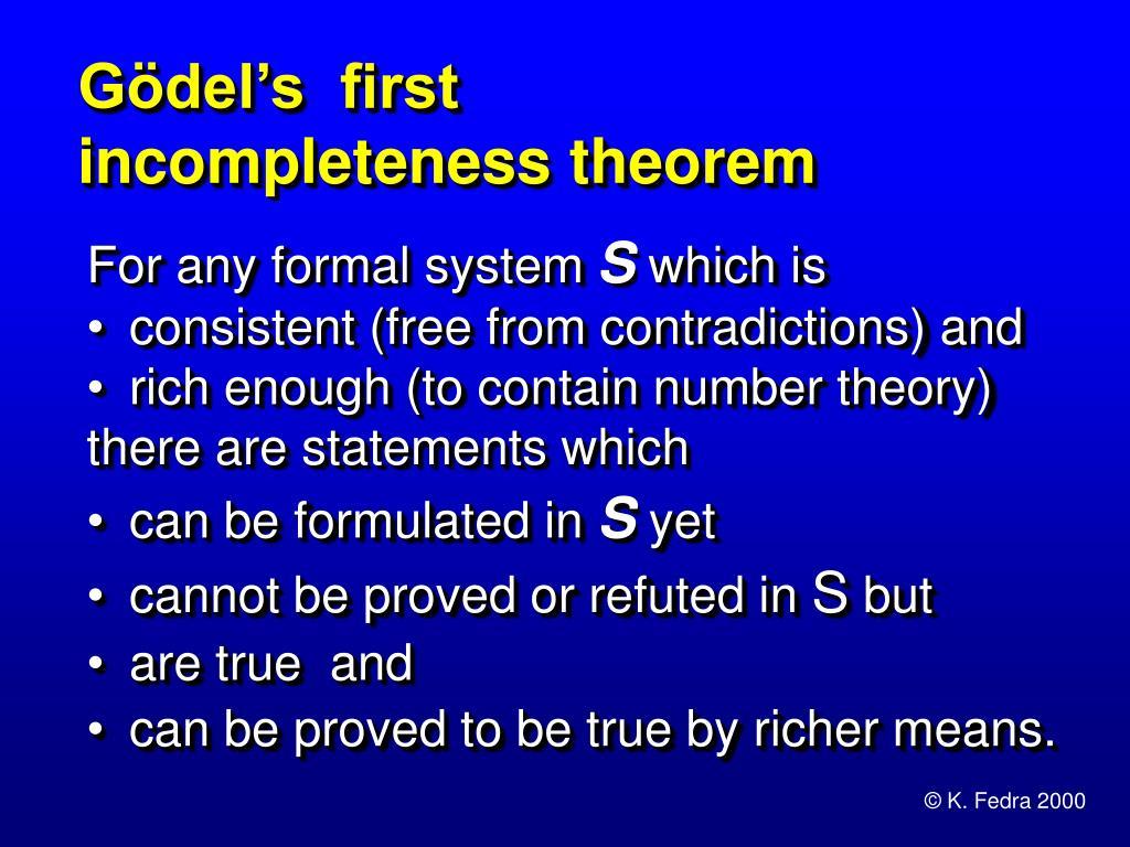 Gödel's  first