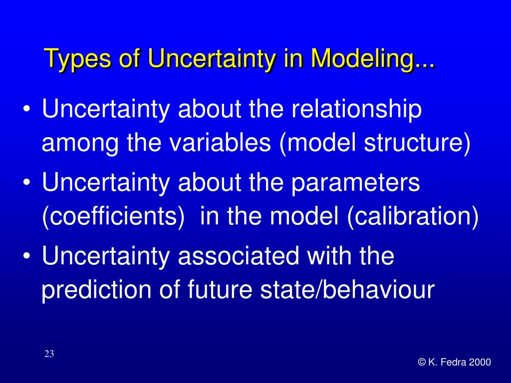 Types of Uncertainty in Modeling...