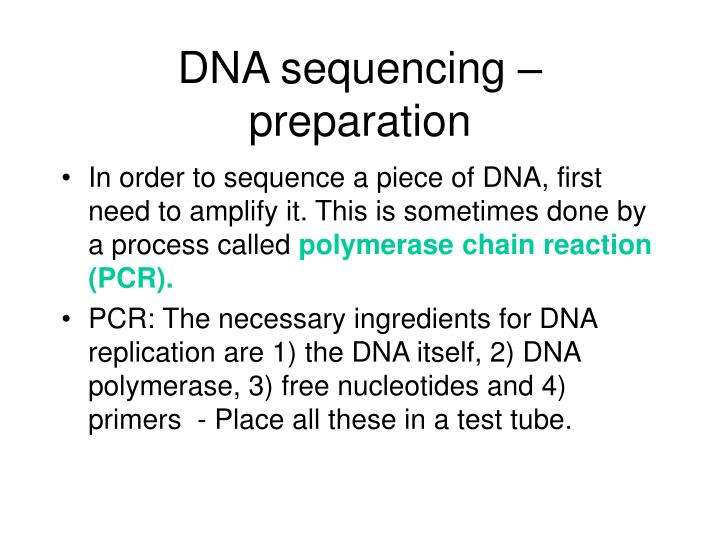 Ppt reading the blueprint of life powerpoint presentation id dna sequencing preparation malvernweather Images