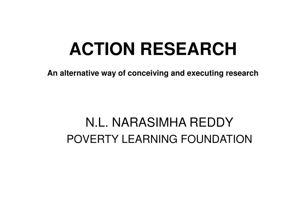 action research an alternative way of conceiving and executing research