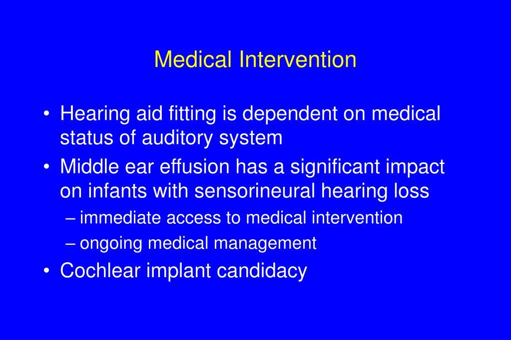 Medical Intervention