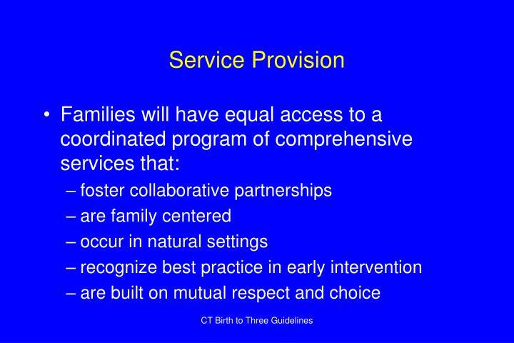 Service provision