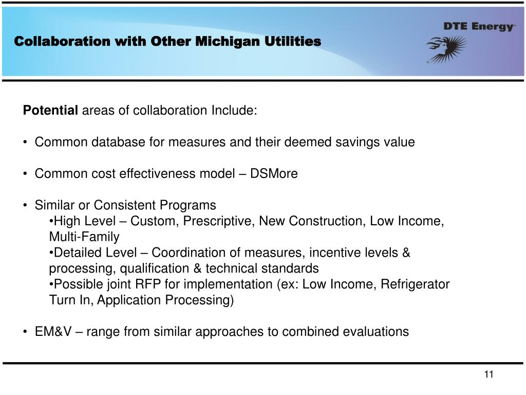 Collaboration with Other Michigan Utilities