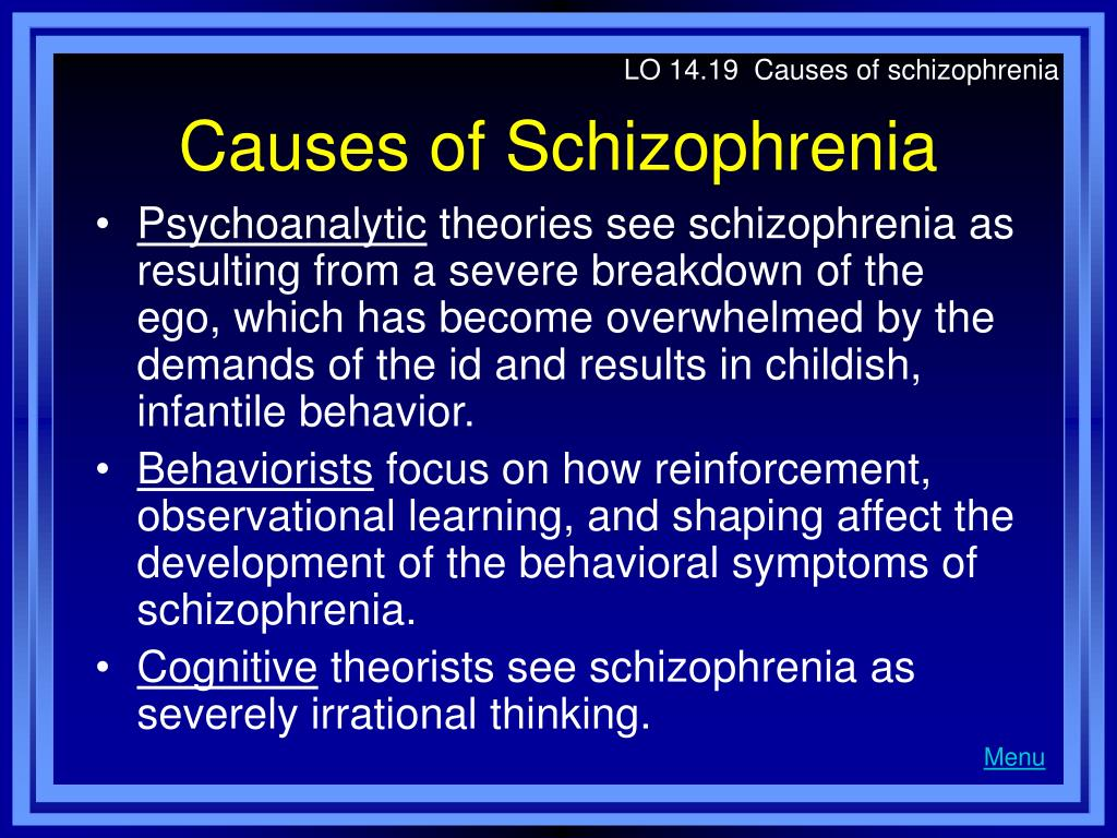 LO 14.19  Causes of schizophrenia