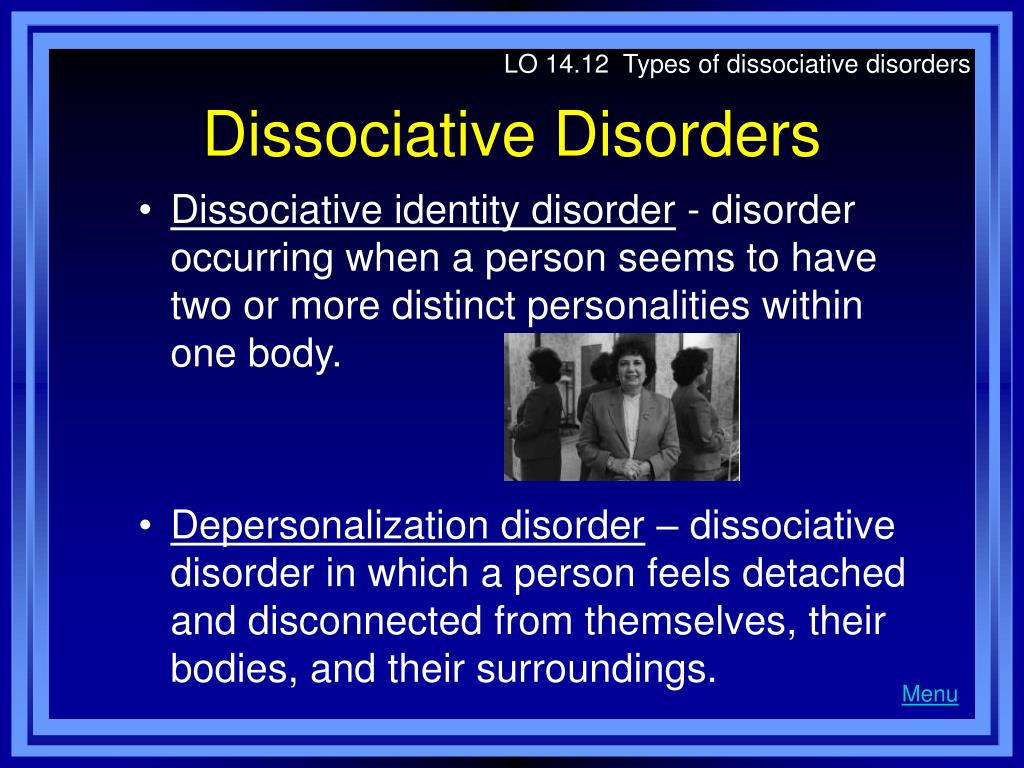 LO 14.12  Types of dissociative disorders