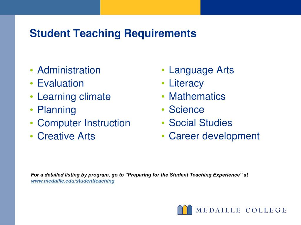 Student Teaching Requirements