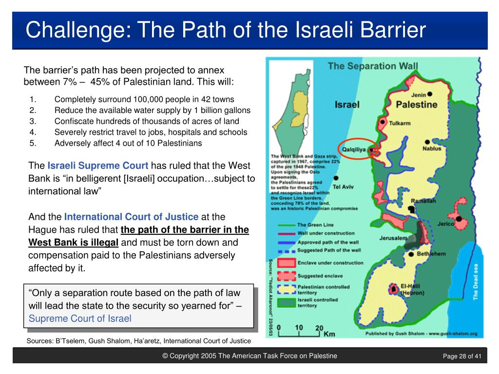 Challenge: The Path of the Israeli Barrier